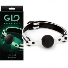 Топка за уста светеща в тъмното – GLO Bondage Ball Gag