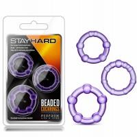 Пенис пръстени с мъниста лилав – Stay Hard Beaded Cockrings