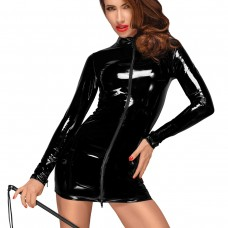 Секси лъскава рокля от PVC Винил на Noir Handmade